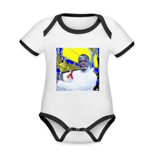 Shaka saxo - Body Bébé bio contrasté manches courtes