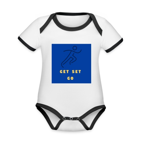 GET SET GO - Organic Baby Contrasting Bodysuit