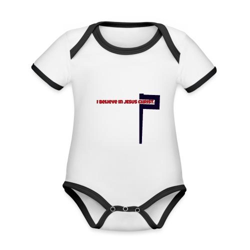 I believe in Jesus!!! - Baby Bio-Kurzarm-Kontrastbody