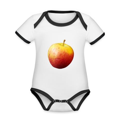 rood fruit met een naam - Baby contrasterend bio-rompertje met korte mouwen