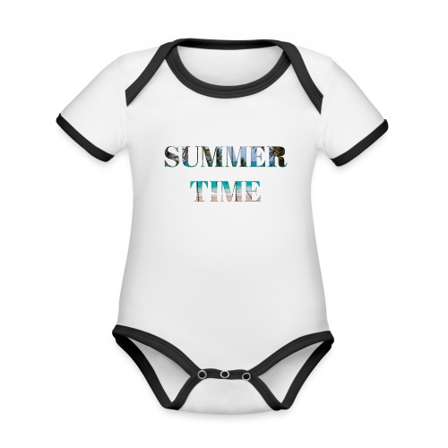 Summertime - Baby Bio-Kurzarm-Kontrastbody