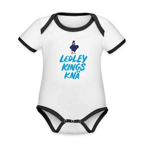 LKK logo scribble - Ekologisk kontrastfärgad kortärmad babybody