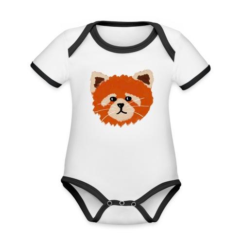 Amanda the red panda - Organic Baby Contrasting Bodysuit