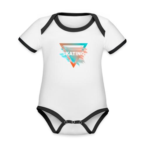 Skating Diffus - Baby Bio-Kurzarm-Kontrastbody