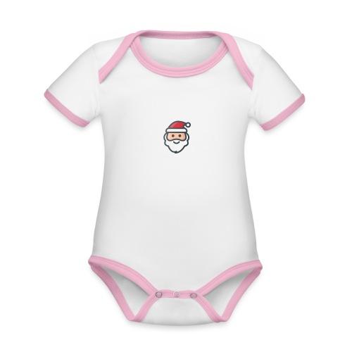 santa - Organic Baby Contrasting Bodysuit
