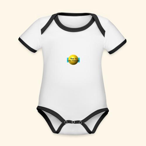 Time to Love Yourself - Baby Bio-Kurzarm-Kontrastbody