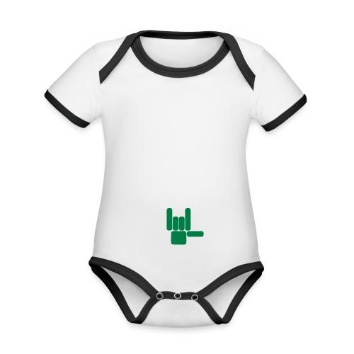 Beau Qui T'Eau boxershort - Baby contrasterend bio-rompertje met korte mouwen