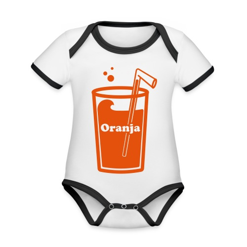 Oranja - Baby contrasterend bio-rompertje met korte mouwen