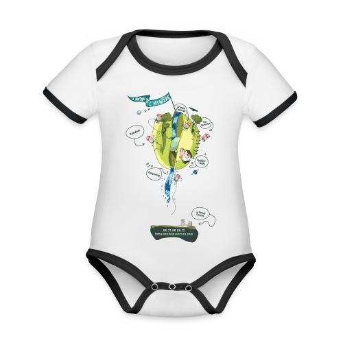 T-shirt Maison de L'aventure - Body Bébé bio contrasté manches courtes