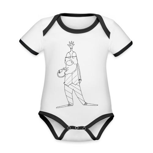 clownerie1 - Body Bébé bio contrasté manches courtes