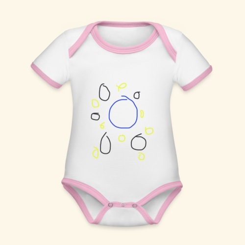 Univers bébé - Body Bébé bio contrasté manches courtes