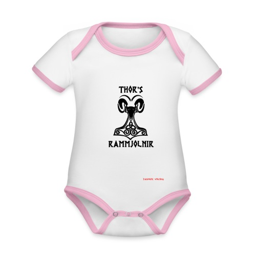 THOR's-RAMMjolnir - Body Bébé bio contrasté manches courtes