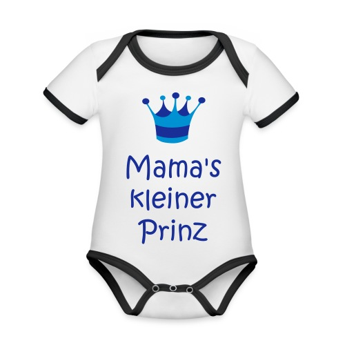 Mama's kleiner Prinz - Baby Bio-Kurzarm-Kontrastbody