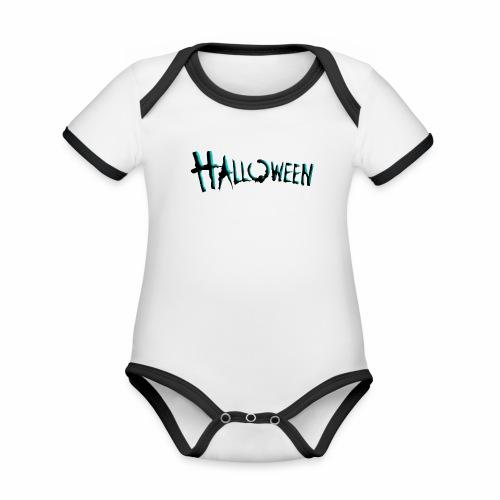 Halloween 'Tee' - Body Bébé bio contrasté manches courtes