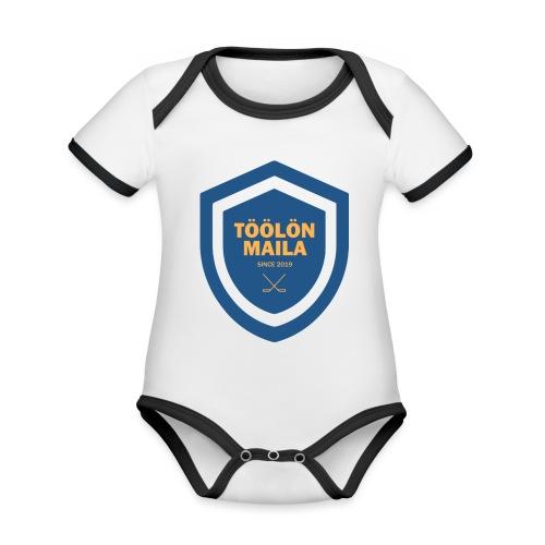 Töölön Maila - Vauvan kontrastivärinen, lyhythihainen luomu-body