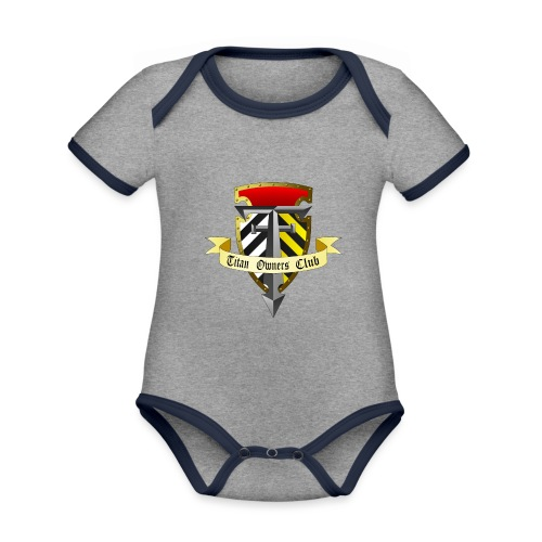 TOC Gothic Clear Background 1 - Organic Baby Contrasting Bodysuit
