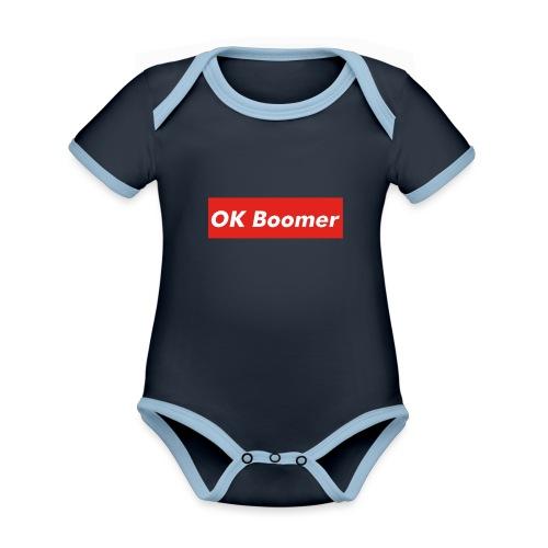 OK Boomer Meme - Organic Baby Contrasting Bodysuit
