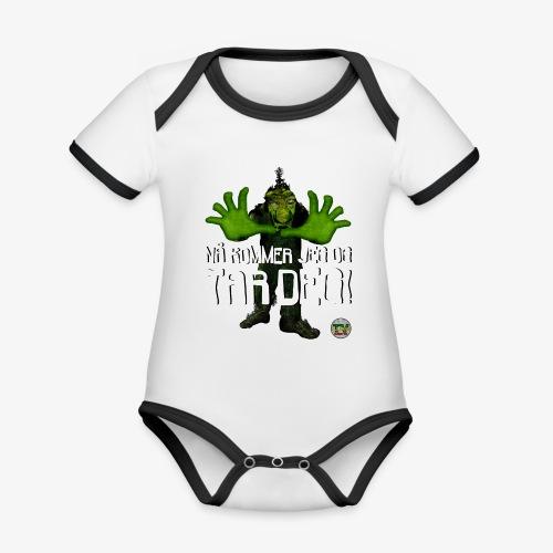 Troll - Økologisk kortermet kontrast-babybody