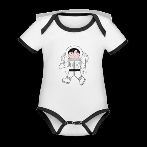 Astronaut - Baby Bio-Kurzarm-Kontrastbody