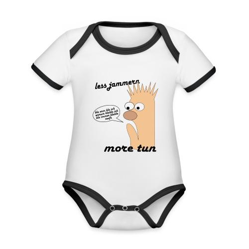 more tun - Baby Bio-Kurzarm-Kontrastbody