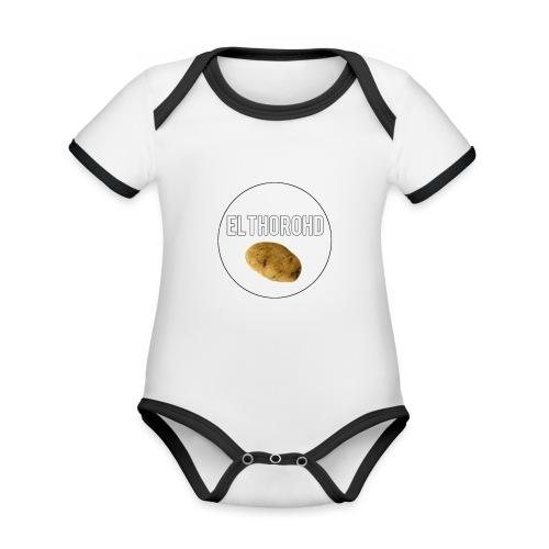 ElthoroHD trøje - Kortærmet økologisk babybody i kontrastfarver