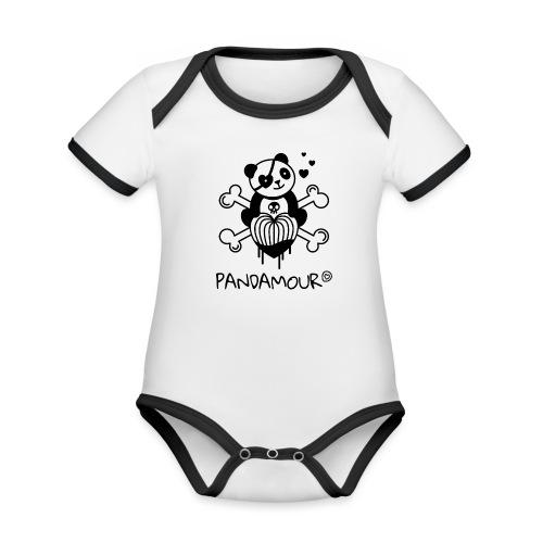 PANDAMOUR - Body Bébé bio contrasté manches courtes