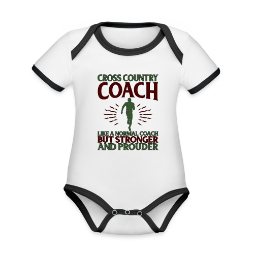 Cross Country Coach Gift Cross Country Coach Like - Organic Baby Contrasting Bodysuit
