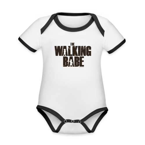 The Walking Babe - Body Bébé bio contrasté manches courtes