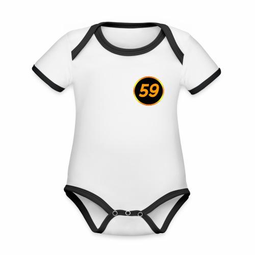 aake59 logo - Ekologisk kontrastfärgad kortärmad babybody