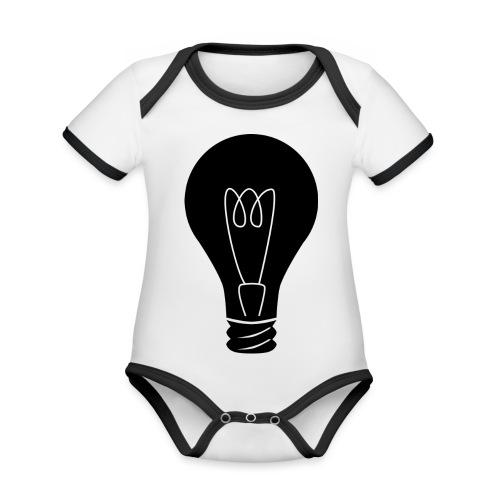 Glühbirne - Baby Bio-Kurzarm-Kontrastbody