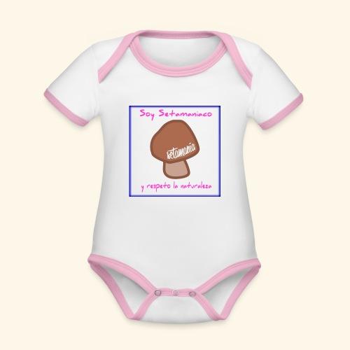 Soy Setamaniaco - Body contraste para bebé de tejido orgánico