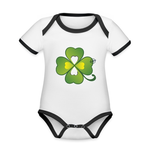 Clover - Symbols of Happiness - Organic Baby Contrasting Bodysuit