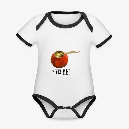 yerba VcrFva - Ekologiczne body niemowlęce z krótkim rękawem i kontrastowymi lamówkami