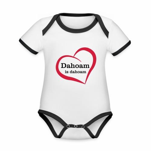 Dahoam is dahoam - Baby Bio-Kurzarm-Kontrastbody