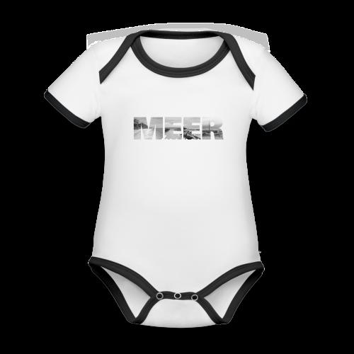 MEER - Baby Bio-Kurzarm-Kontrastbody