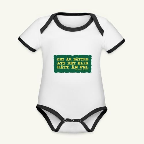 Kenttä citat - Ekologisk kontrastfärgad kortärmad babybody