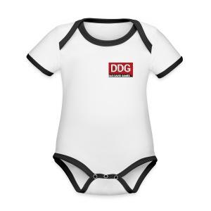 ddg - Baby contrasterend bio-rompertje met korte mouwen