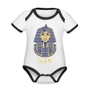 Tutanchamun (zweifarbig) - Baby Bio-Kurzarm-Kontrastbody