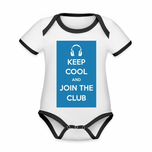 Join the club - Organic Baby Contrasting Bodysuit