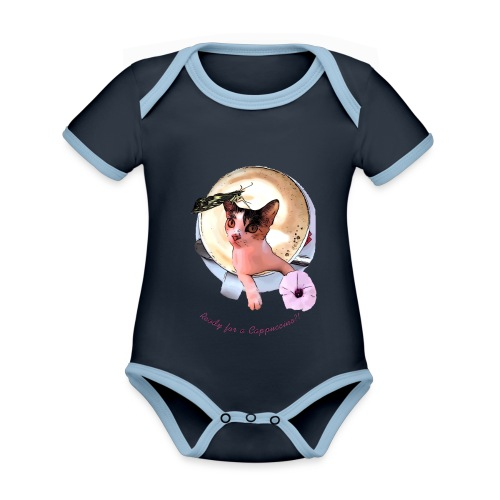 Ready for a cappuchino? - Organic Baby Contrasting Bodysuit