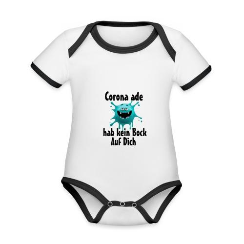 Kein Bock - Baby Bio-Kurzarm-Kontrastbody