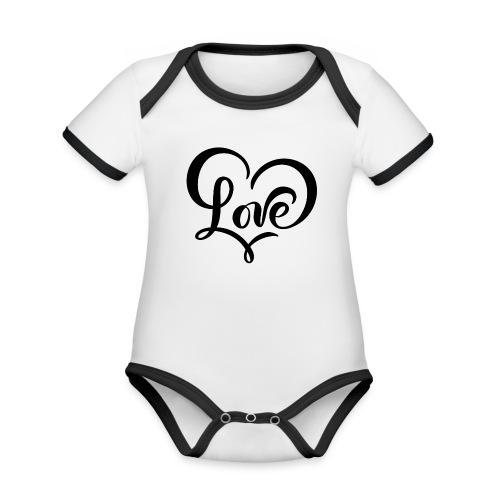 Love - Økologisk kortermet kontrast-babybody