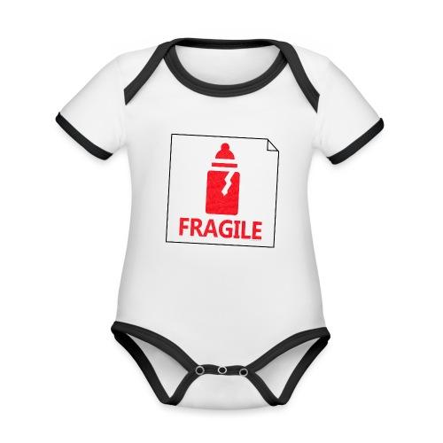 Fragile - Body Bébé bio contrasté manches courtes
