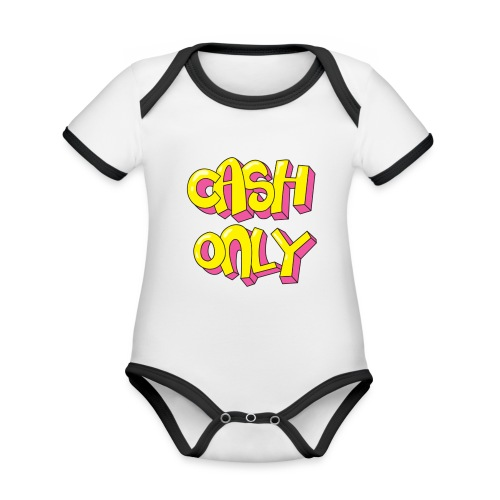 Cash only - Baby contrasterend bio-rompertje met korte mouwen