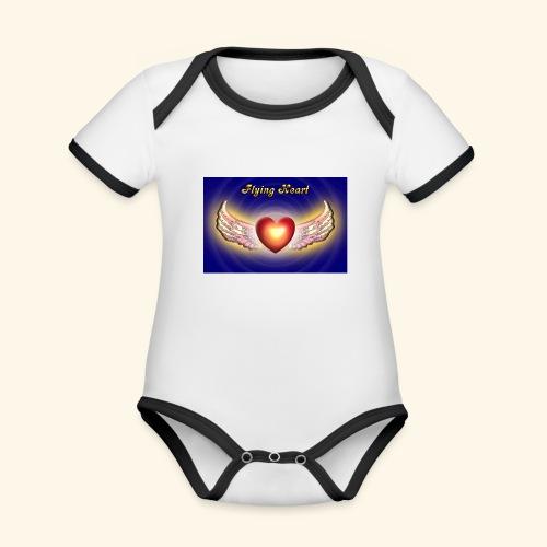 Flying Heart - Baby Bio-Kurzarm-Kontrastbody