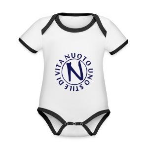 NUOTO UNO STILE DI VITA - Body da neonato a manica corta, ecologico e in contrasto cromatico