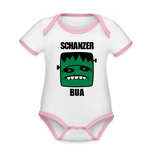Fonster Schanzer Bua - Baby Bio-Kurzarm-Kontrastbody