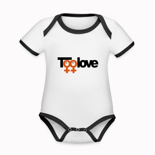 toolove mm - Body da neonato a manica corta, ecologico e in contrasto cromatico