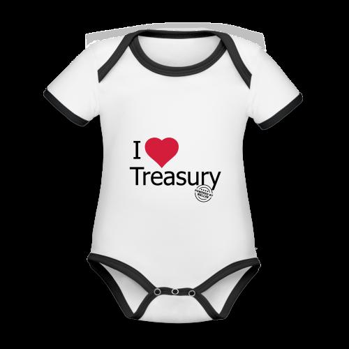 I LOVE TREASURY - Organic Baby Contrasting Bodysuit