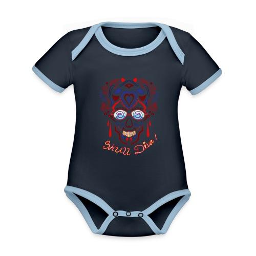 Skull Tattoo Art - Organic Baby Contrasting Bodysuit